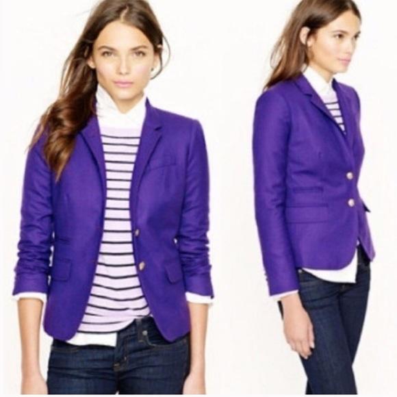 J. Crew Jackets & Blazers - J CREW Schoolboy Blazer  Purple Wool Size 12.